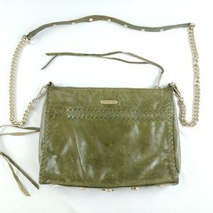 Rebecca Minkoff Leather Crossbody Bag Purse Olive
